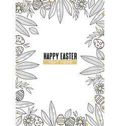 easter background floral decoration vector image