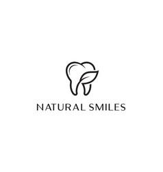 eco dental logo design concept vector image
