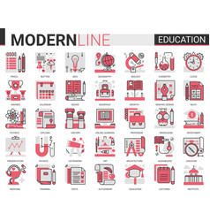 education complex concept flat line icon vector image