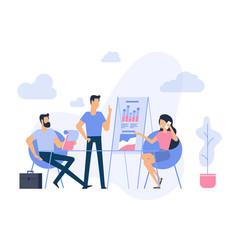 flat design business process concept vector image