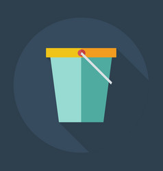 Flat modern design with shadow icons bucket vector