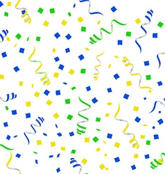 flat party streamers seamless pattern vector image