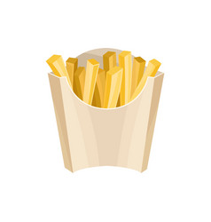 french fries in packaging box unhealthy nutrition vector image