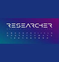 Futuristic font alphabet letters future logo vector