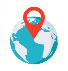 globe with pointer vector image