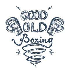 good old boxing vector image