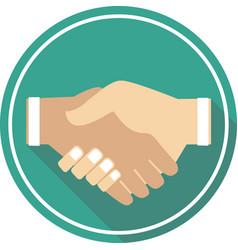 Handshake icon sign and symbol vector