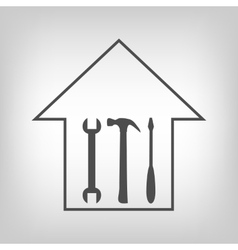 House repair vector image