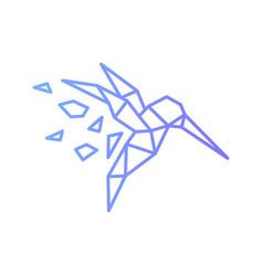 Hummingbird colibri bird geometric shattered vector