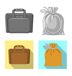 Isolated object of suitcase and baggage symbol vector