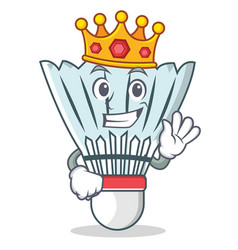 King shuttlecock character cartoon vector