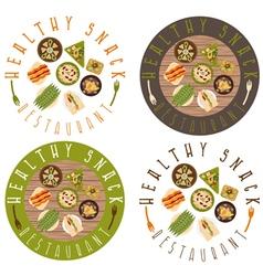 Labels set for healthy food restaurant vector