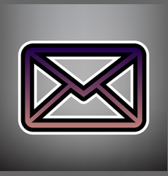 letter sign violet gradient vector image