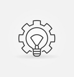 light bulb with gear icon vector image