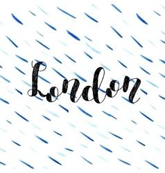London Brush lettering vector