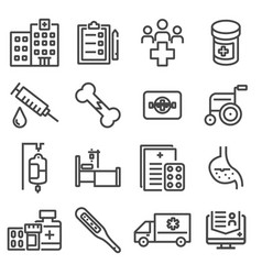 medicine and health symbols vector image