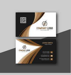 Modern business card template image vector