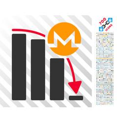 monero epic fail chart flat icon with bonus vector image