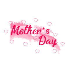 mother day text with hearts vector image