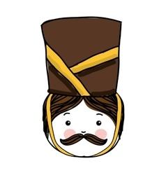 Nutscraker soldier character icon vector