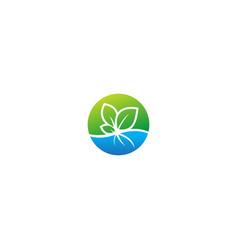 Plant organic seed nature logo vector