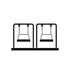 Playground swing black simple icon vector image