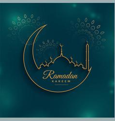 Ramadan kareem background in line style vector