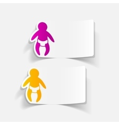 realistic design element baby vector image