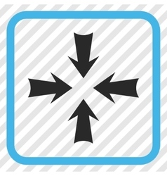 Reduce Arrows Icon In a Frame vector image