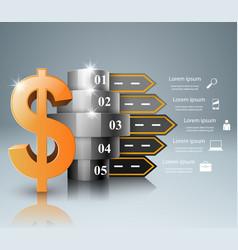 Road infographic dollar money icon vector