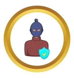 Robbery insurance icon vector image