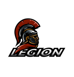 Roman legionnaire logo vector