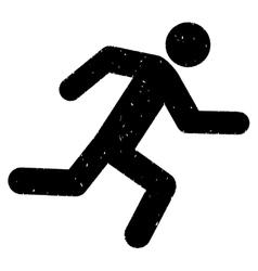 Running Man Grainy Texture Icon vector