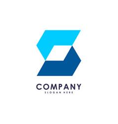s initial letter hexagon modern logo design vector image