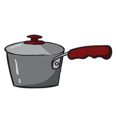 Saucepan on white background vector