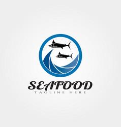Seafood logo designfood icon vector