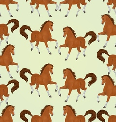 Seamless texture chestnut Horses stallions vector image