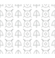 seamless viking pattern with shields swords and vector image