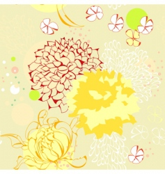 Seamless wallpaper with floral element vector