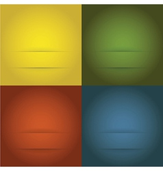 Set of abstract templates background vector image