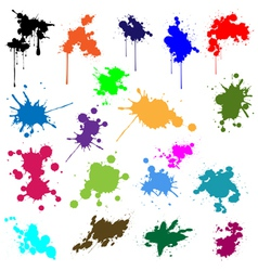 Set of ink in different colors vector image