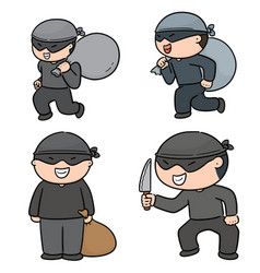 set of thief vector image