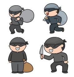 Set of thief vector