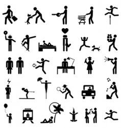Set people icons vector