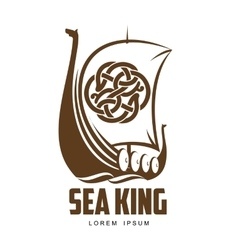 Ship Viking logo vector