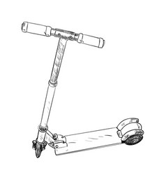 sketch of scooter vector image