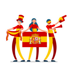Spanish flag spain people day vector