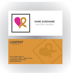 square hearth care logobusiness card vector image