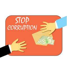 To stop the corruption money in the envelope vector