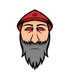 traditional farmers hat mascot logo vector image